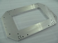 Aluminum material A5052 grinding with a work size of 20 × 270 × 400 and a flatness of 10 micron.