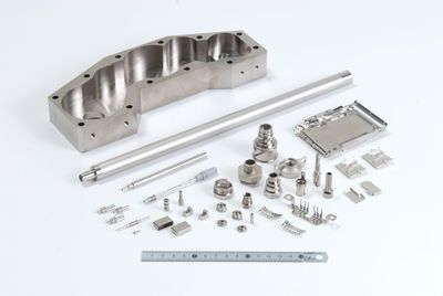 Functional plating such as electroless nickel phosphorus, electroless nickel boron, and electroless lubricant coating (PTFE)
