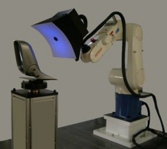 Inspection robots for curved and mirror exterior surfaces