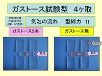 [PC transparent color] Elimination of the flow of air bubble and Silver streaks –by SE50T: The use example of Gas-tosu