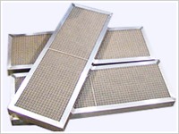 Framed demister for sludge processing plants